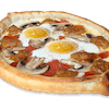 Two Eggs Gondola Pizza with Three Topping