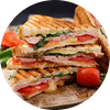 Ham & Cheese Club Sandwich