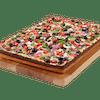 Square Deep Dish Veggie Pizza