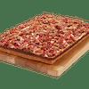 Square Deep Dish Meatza Pizza