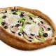 Four Topping Gondola with Two Eggs Pizza