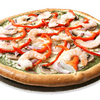 Pesto Pizza with Shrimp