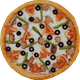 Three-Six Toppings Pizza