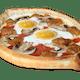 Three Toppings & Two Eggs Gandola Pizza