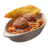 Spaghetti with Two Meatballs