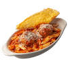 Mostaccioli with Two Meatballs