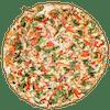 Creamy Garlic Garden Pizza