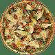 Keto Chicken Sausage, Artichokes & Pesto Pizza