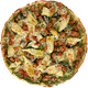 Chicken, Sausage, Artichokes & Pesto Pizza