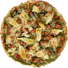 Chicken, Sausage, Artichokes & Pesto Pizza