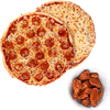 Two Large Pizzas & 10 Wings Special