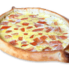 Two Eggs Tomato Scrambled Gondola Pizza
