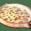 Two Tomato Scrambled Eggs Gondola Pizza