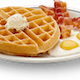 Waffles Platter with Bacon